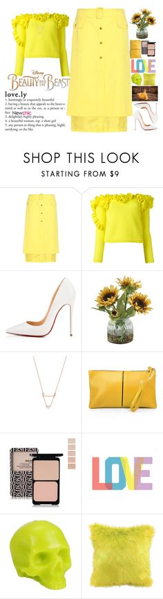 """""""That is life. Those we love leave us ... if we do not tie them to the battery, but for some reason it's forbidden. (This is my vision of the image of Belle, he is not exactly classical, but we are tired of looking at ordinary yellow dresses) NEWCHIC B#1"""" by holy-k15 ❤ liked on Polyvore featuring Sies Marjan, Delpozo, Christian Louboutin, Home Decorators Collection, Disney, Native State, D.L. & Co., BeautyandtheBeast and contestentry"""