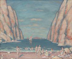 Šimon Tavík František (1877–1942) | At a Sea Inlet | Aukce obrazů, starožitností | Aukční dům Sýpka Canvas Signs, Art History, Painting & Drawing, Auction, Museum, Drawings, Water, Landscapes, Paintings