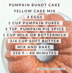Yummy pumpkin Bundt