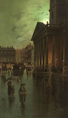 "John Atkinson Grimshaw=John Atkinson Grimshaw was a Victorian-era artist, a ""remarkable and imaginative painter"" known for his city night-scenes and landscapes.  Born: September 6, 1836, Leeds, United Kingdom Died: October 13, 1893"