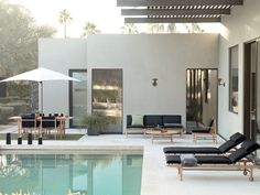 Jonas Bjerre-Poulsen and Kasper Rønn of Norm Architects designed their first outdoor collection for America that's available exclusively through Design Within Reach