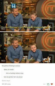 Gordon Ramsay and his son
