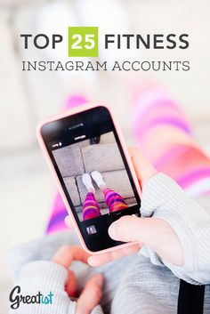 Get motivated and moving with these 25 awesome fitness Instagram accounts! #instagram #fitness #fitspo
