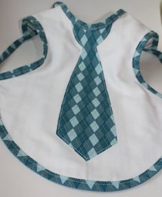 This is a manly bib. :) Did it! Made this for my new god-son. Come out so cute!