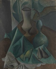 """Pablo Picasso, """"Vase, Gourd, and Fruit on a Table"""""""