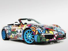 30 Psychedelic Car Designs - From Traditional Trippy Autos to Color-Bursting Cars (TOPLIST)