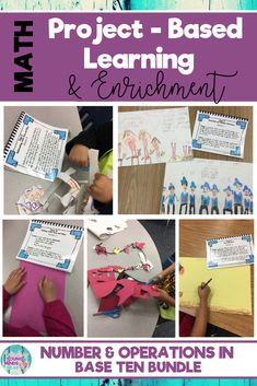 40 interactive and fun 1st and 2nd grade common core math enrichment projects that foster real life problem-solving. These number & operations in base ten project-based activities challenge elementary students and are perfect for gifted or highly capable students. Click the link to see what this is all about! #enrichment #mathenrichment #commoncore #commoncoremath #math #PBL #projectbasedlearning #1stgrade #firstgrade #2ndgrade #secondgrade #mathactivities #tensandones #counting #numberpatterns