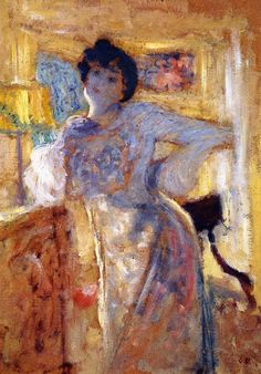 Édouard Vuillard  Madame Hessel 1905. oil on cardboard