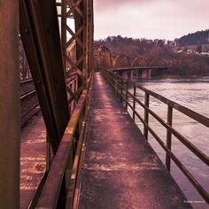 Die wunderschöne alte Eisenbahnbrücke beim Klingnauer Stausee in der Nähe von Koblenz  The old bridge over the Aare river near Koblenz  _____________________________________________ Camera: Panasonic Lumix DMC-GX8 Lens: LEICA DG SUMMULUX 15/F17 Settings: f/8.0 |6s | 15 mm | ISO 100 Software: nofilter but LR  _____________________________________________  #landscapephotography #landscapelovers #lumixphotography  #lumixgx8 #travelphotos #bridgephotography #lumix #lumixlines #historic… Railroad Tracks, Instagram, Nice Asses, Train Tracks