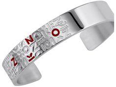 Kenzo - Bracelet Meli Melo en argent rhodié et laque rouge