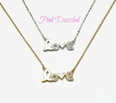 "Available Colors: Gold, White Gold  Material: Cubic Zirconia, 18kt Gold Plated  Length: Approx. 17"" plus 2.5"" extender for Yellow Gold, and 18"" for White Gold"