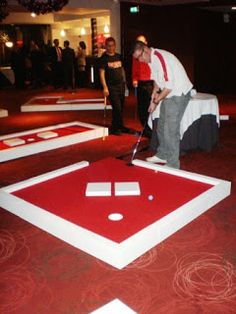 portablePop Upmini Golf course. can use for team building, customise the 'obstacles' inside this mini courses