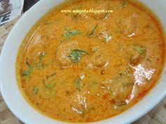 Maayeka: Moong Daal Kofta Curry (substitute curd (yogurt) for soy yogurt