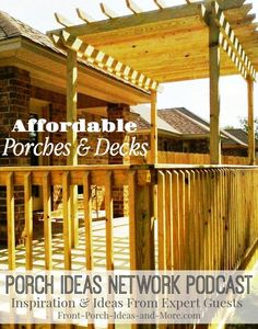 Bradley Johns of Ready Decks tells us how he builds affordable porches and decks. They are suited for both mobile homes as well as traditional homes. Bradley has developed systems for not only porches and decks, but also stairs and ramps. Listen to our informative discussion to get ideas for your own porch! Listen: http://www.front-porch-ideas-and-more.com/podcast-9-porch-ideas-for-mobile-homes.html  #porchideas