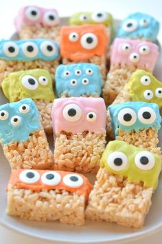 These Rice Krispie Treat Monsters are SO EASY and they're completely adorable…                                                                                                                                                                                 More
