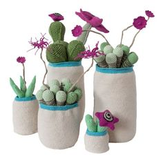 Crochet Cactus (magenta) by Safari Fusion www.safarifusion.com.au