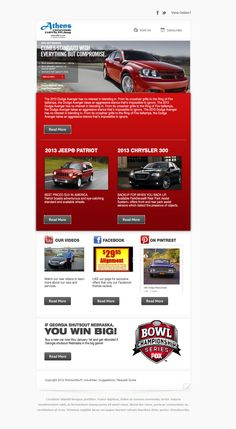 Athens Dodge Chrysler Jeep email marketing campaign