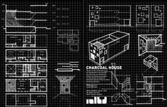 Completed in 2010 in Toronto, Canada. Images by borXu Design. Charcoal House, situated in Pape and Danforth neighborhood in Toronto, Ontario, is deceivingly presenting a raucous box. The randomly patterned. Charcoal House, Square Windows, Toronto Ontario Canada, Facade Architecture, Townhouse, Sketches, Sketch Drawing, The Neighbourhood, Gallery