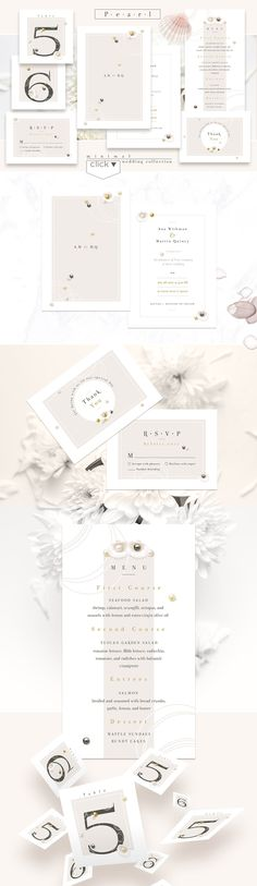 Pearl-minimal wedding collection by Polar Vectors on @creativemarket
