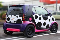 polka dot smart car