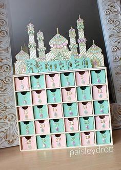 Dawn Ramadan Moschee Adventskalender MDF Gold-Elfenbein Mint
