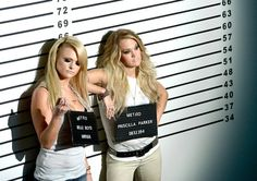 "Carrie Underwood and Miranda Lambert on the set of ""Something Bad"" video"