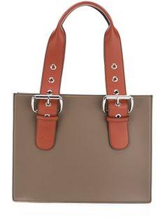 сумка с ручками контрастного цвета