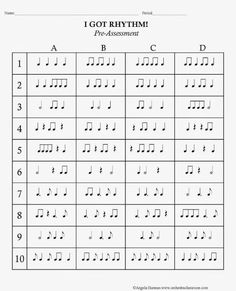 This would be a really fun bingo game and rhythm practicing activity.