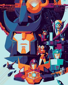 Exclusive: 'Transformers: The Movie' Timed Release Poster By Tom Whalen and Acid Free Gallery – /Film Tom Whalen, Fan Poster, Movie Poster Art, Gi Joe, Arcee Transformers, Transformers Prime, Optimus Prime, Dreamworks, Movie Prints
