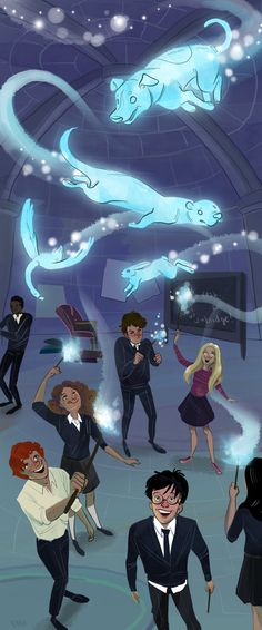 Harry Potter: DA Meeting Art Print by Tristyn Pease