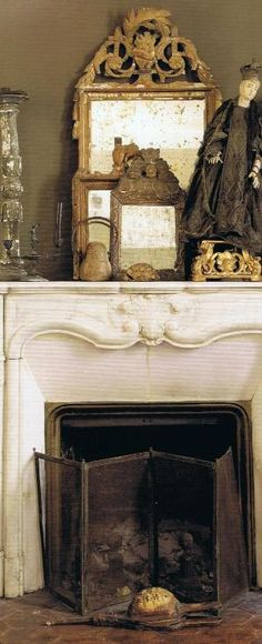 Collection of antique French mirrors by Kim Paige
