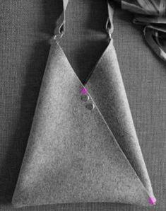 Make an Origami bag – Free sewing pattern – Sew Different Bag Pattern Free, Bag Patterns To Sew, Sewing Patterns Free, Free Sewing, Pattern Sewing, Leather Bag Tutorial, Leather Bag Pattern, Leather Bags Handmade, Handmade Bags