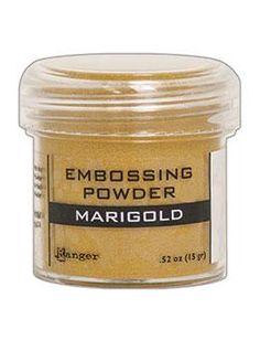 NEW! Embossing Powder Marigold Metallic