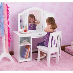 You'll love the Deluxe 2 Piece Vanity Set with Mirror at Wayfair - Great Deals on all Baby & Kids  products with Free Shipping on most stuff, even the big stuff.