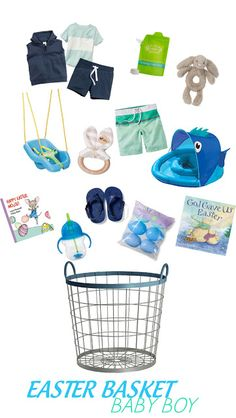 Bringing Up Brooks: Easter Basket Ideas. Baby Boy Easter Basket. Baby's First Easter.