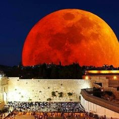 Blood moon at the Wailing Wall                                                                                                                                                     More