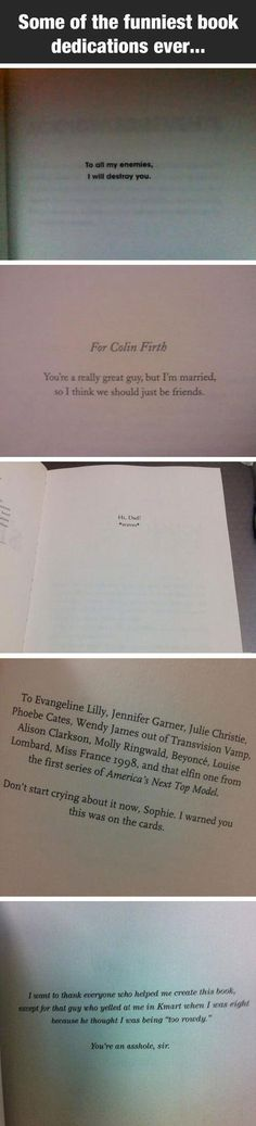 The Funniest Dedications