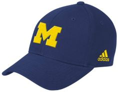 NCAA Michigan Wolverines Structured Adjustable Hat, One Size Fits All,Navy adidas. $14.95