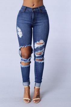 Beach Bum Jeans - Medium Blue Size 3 Fashion Nova