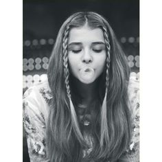 beautiful, bubble gum, chloe moretz, cute, hair ❤ liked on Polyvore featuring accessories and hair accessories