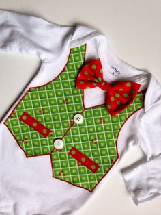 Maybe for Brantley?? Christmas Outfit Boys Christmas Bow Tie Shirt by SweetTootsy, $35.00