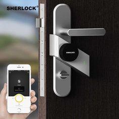Sherlock Smart Door Lock Home Keyless Lock Fingerprint Password Work Electronic Lock Wireless App Phone Bluetooth Control Sherlock, Keyless Locks, Smart Door Locks, Bluetooth, Home Security Tips, Electronic Lock, Wireless Security, Security Gadgets