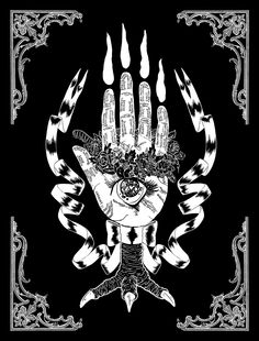 BEHOLD the baba yaga hand of glory and divination!! all will be revealed This will be silkscreened in the near future and, baba yaga willing, you'll be able to find prints at STAPLE! this coming March in ATXDigital, 2015.