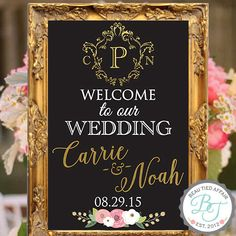 Welcome to our Wedding  Wedding Monogram  by BeauTiedAffair