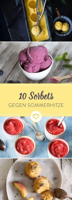In Knallorange, Sonnengelb und Blueberry-Blau – diese 10 Sorbets verbreiten nich… In bright orange, sun yellow and blueberry blue – these 10 sorbets spread nothing but good mood and ice cold refreshment. Smoothie Popsicles, Smoothie Recipes, Easy Homemade Ice Cream, Gelato Recipe, Homemade Cake Recipes, Blueberry Recipes, Summer Desserts, Ice Cream Recipes, Food Cakes