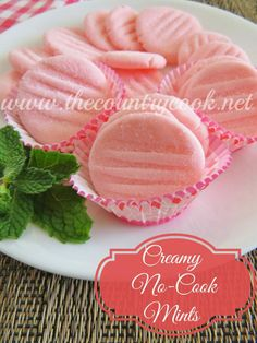 Creamy No-Cook Mints {only 4 Ingredients and perfect for Valentine's Day!}.