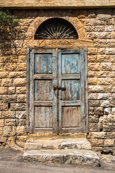Some doors are meant to be kept closed❌ Beirut Explosion, Castle House, Old Windows, Farmhouse Interior, Lebanon, Decoration, Old Houses, Tall Cabinet Storage, Jacket Drawing