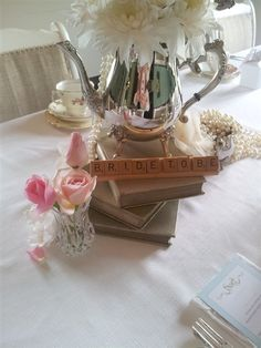 Beautiful table decor for a bridal shower high tea x