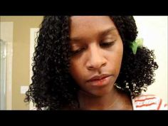 jess of mahogany curls demonstrates how she trims her natural hair