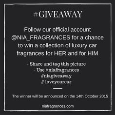 Giveaway Official Account, Giveaway, Fragrance, Car, Automobile, Cars